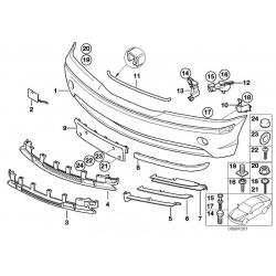 Оригинал BMW Крышка буксирной проушины окрашенная (51110030352)