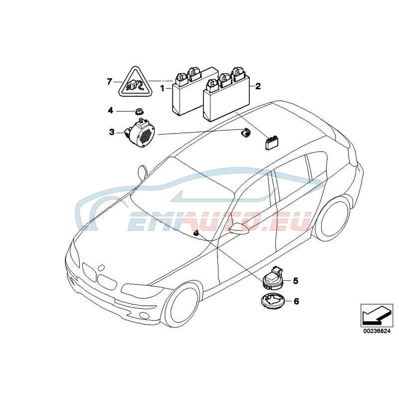 Оригинал BMW ЭБУ системы PDC (66206982400)