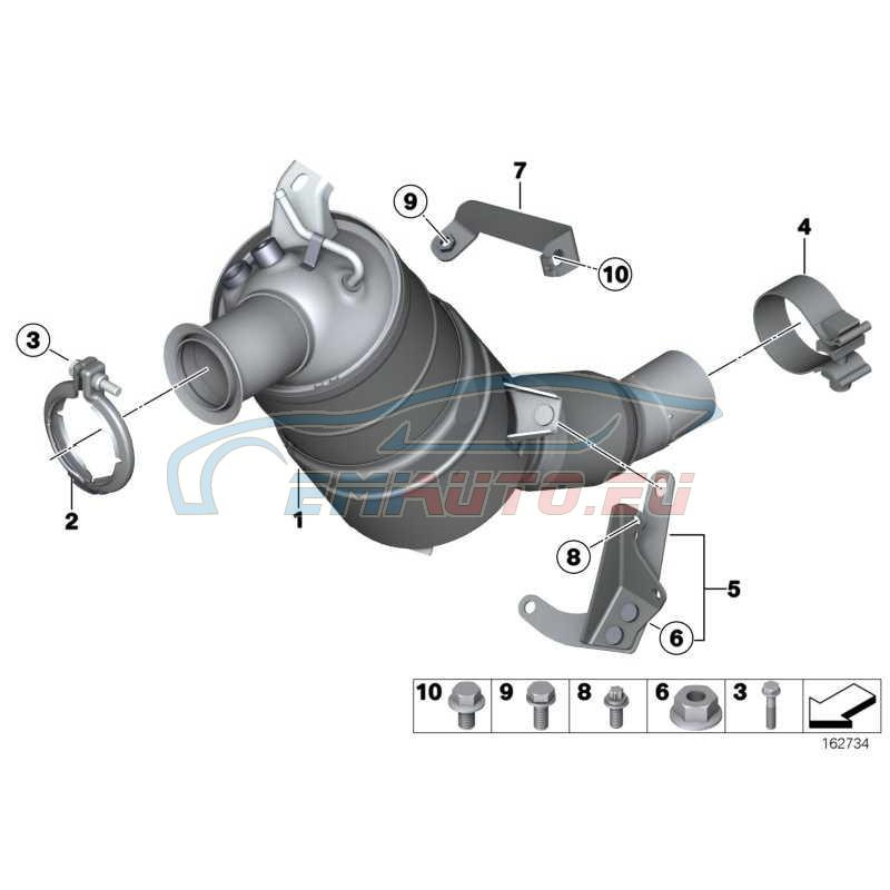 Оригинал BMW Возвратный сажевый фильтр (18307810164)