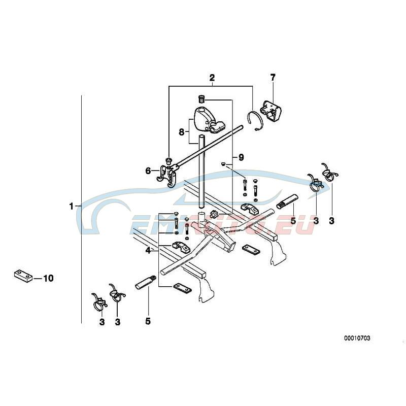 Оригинал BMW Велосипедный подъемник 2-ой комплект (82729407932)