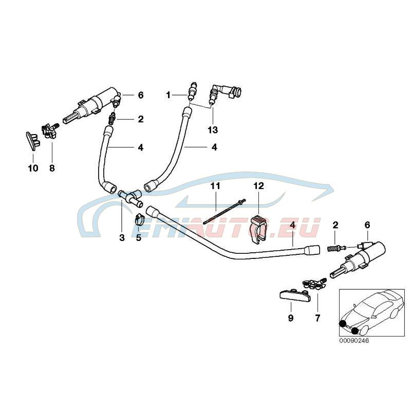 Оригинал BMW Накладка форсунки окрашенная Л (61679071450)