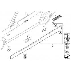 Оригинал BMW Планка швеллера П окрашенная (51770037230)