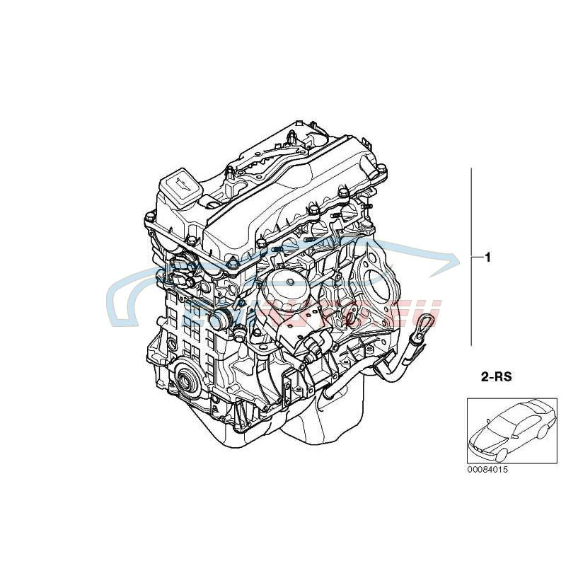 Оригинал BMW Оборотный силовой агрегат (11000391084)