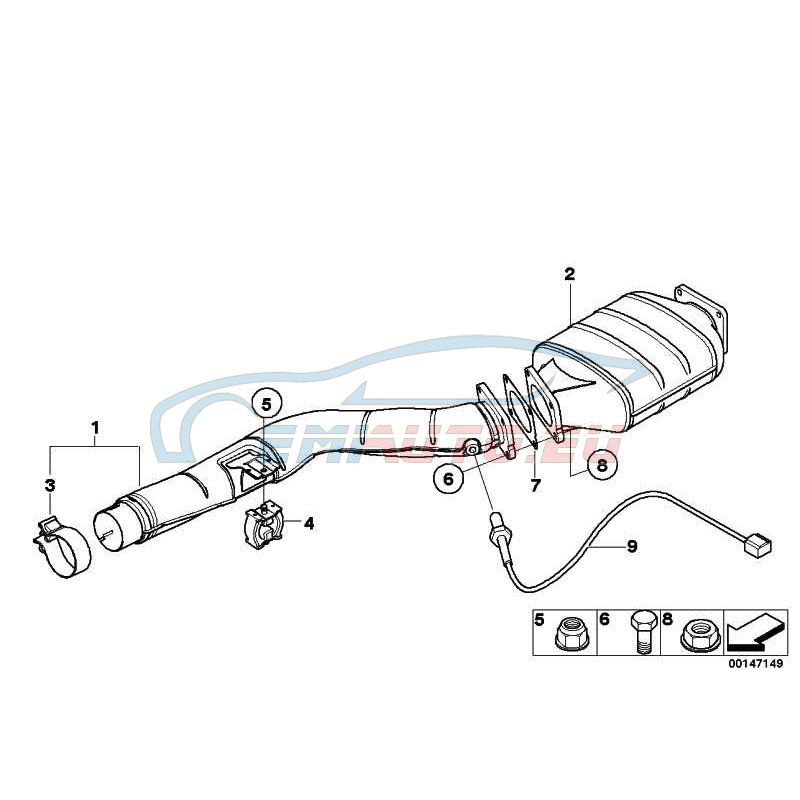 Оригинал BMW Соединительный патрубок (18307789895)
