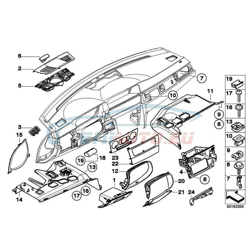 Genuine BMW TRIM PANEL FOOT CONTROLS (51459132558)