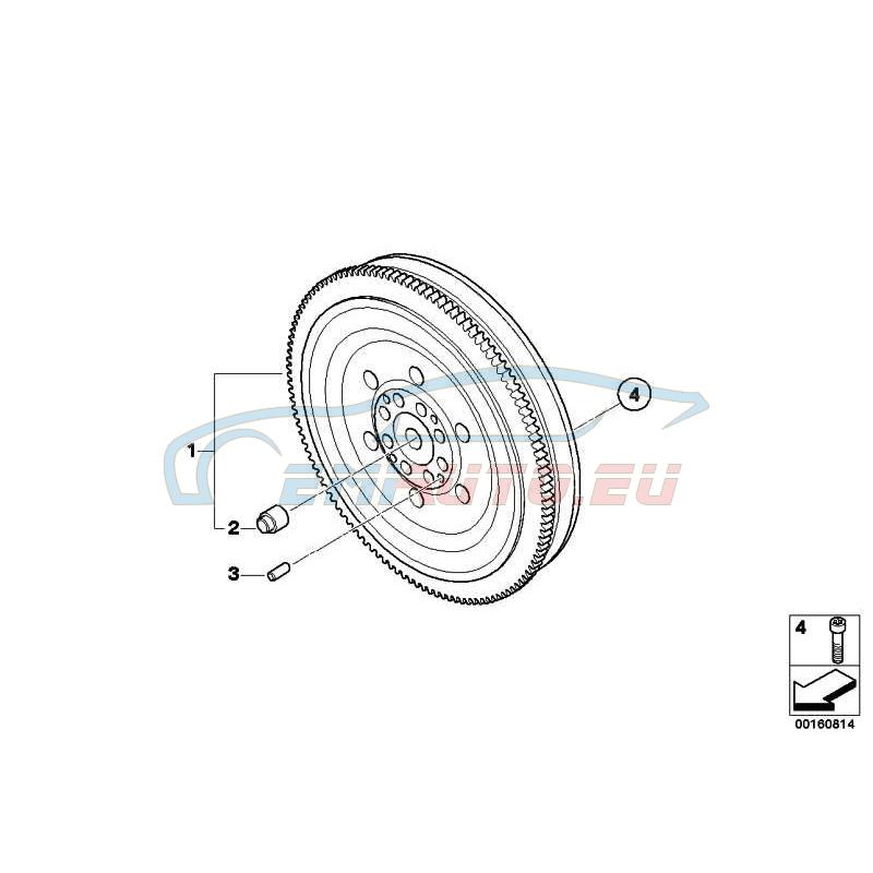 Оригинал BMW Двухмассовый маховик (21207589445)