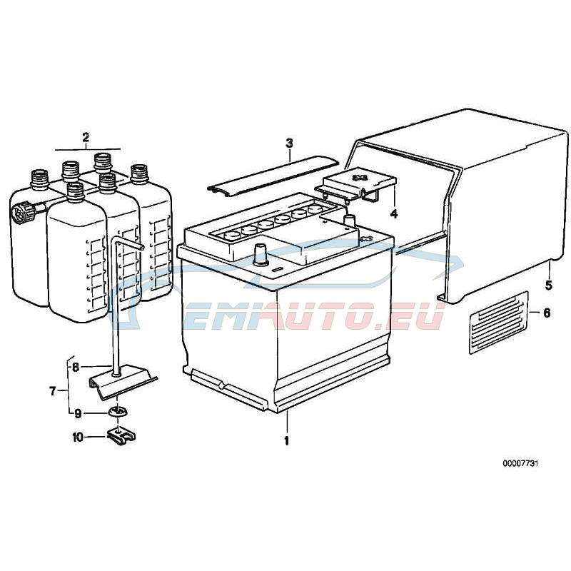 Original BMW Abdeckung Batterie Pluspol (61211385139)