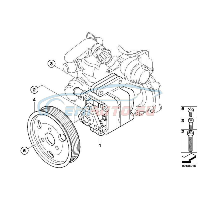 Original BMW Lenkhilfepumpe (32416780413)