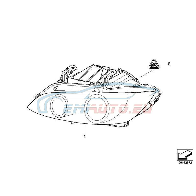 Genuine BMW AHL-xenon headlight, left (63117182513)