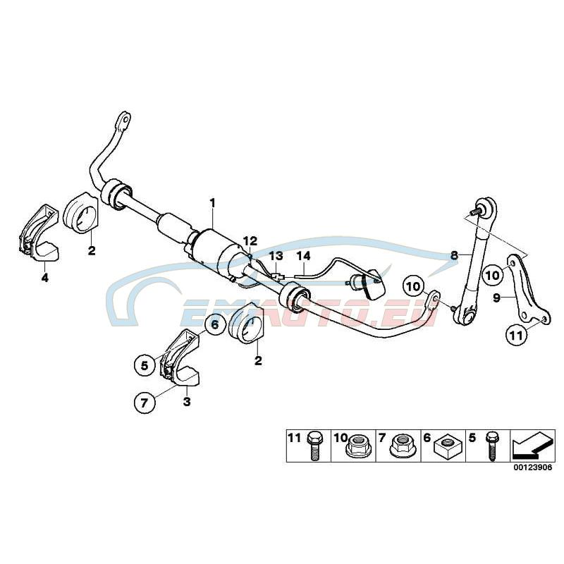 Оригинал BMW Активный стабилизатор (37116780011)