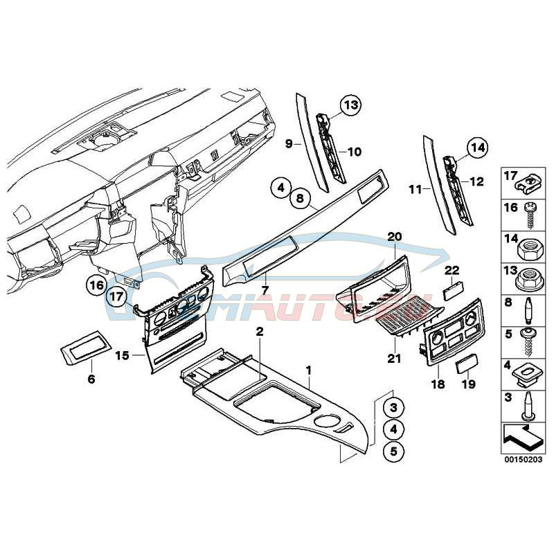 Оригинал BMW Дек.накладка центральной консоли (51167130177)