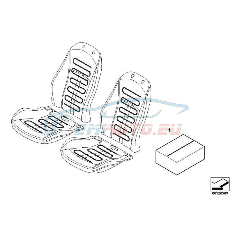 Оригинал BMW Комплект дооснащения обогрева сиденья Пд (61110307620)