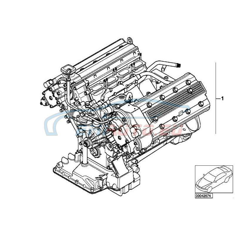 Original BMW Austausch Triebwerk (11007830047)