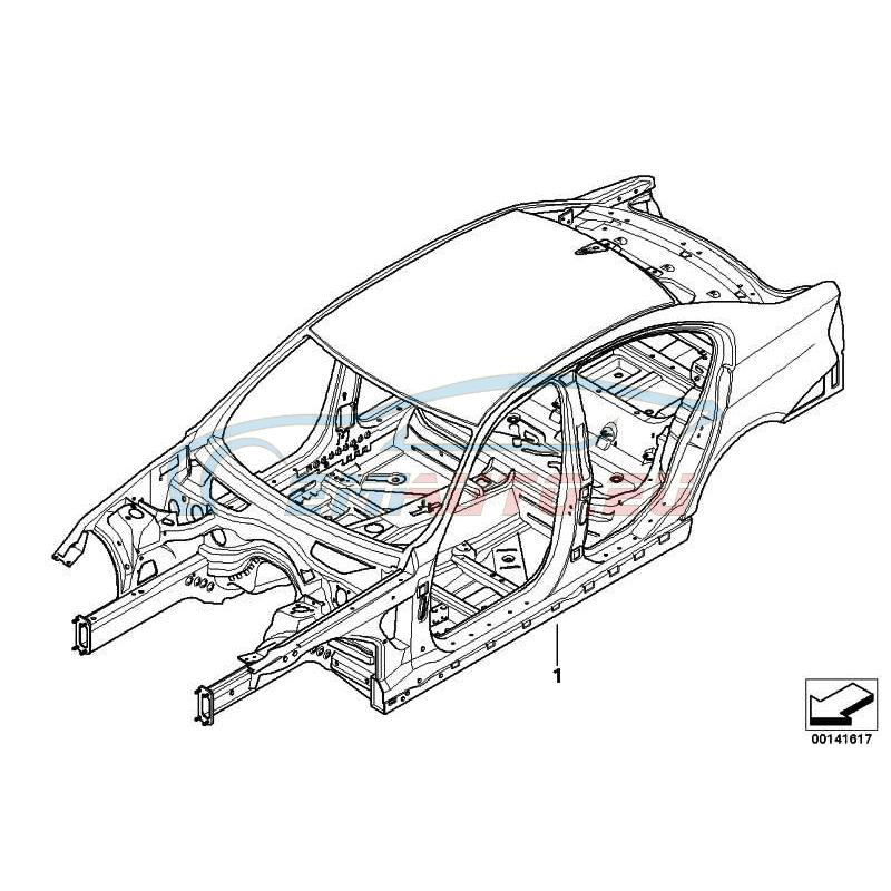 Оригинал BMW Каркас кузова,люк с подъемно-сдв.крышкой (41007180022)