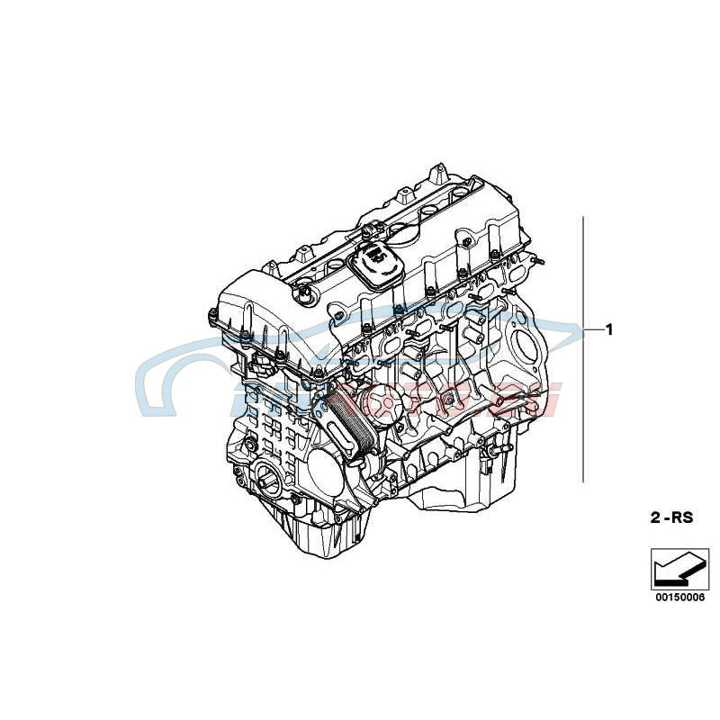 Оригинал BMW Оборотный силовой агрегат (11000415405)