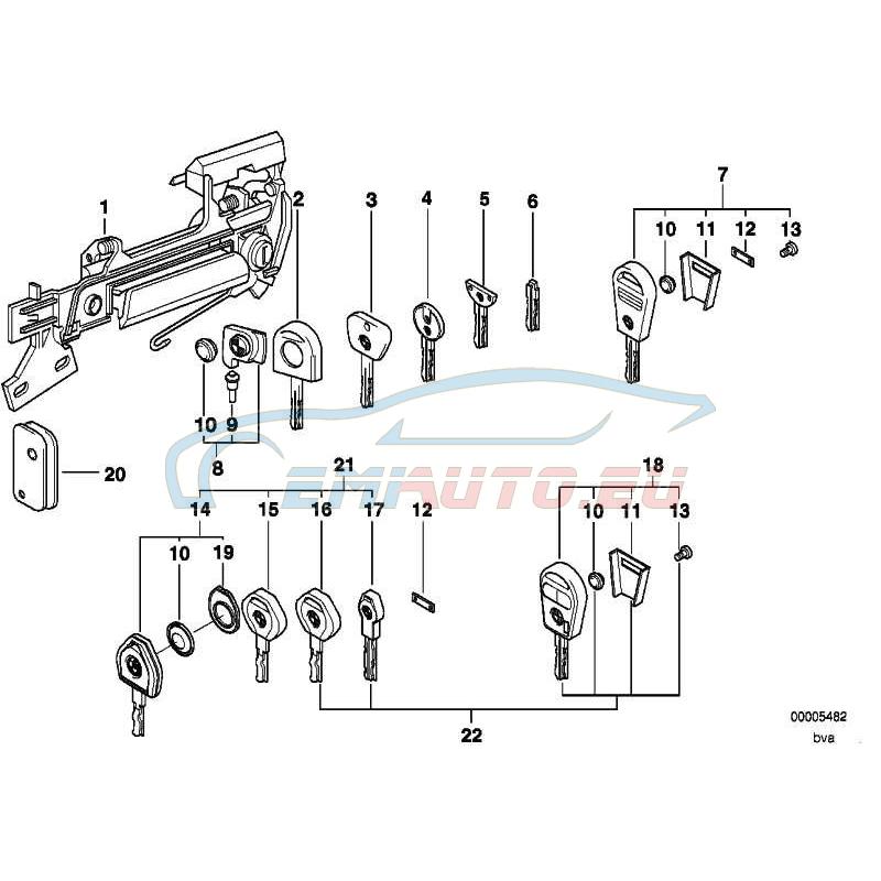 Original BMW Generalschlüssel beleuchtet (Code) (51218205311)