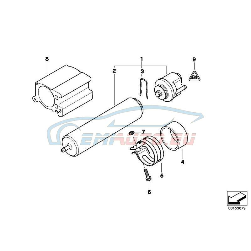 Оригинал BMW Топливный фильтр с обогревом (13328512369)