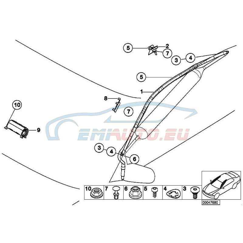 Оригинал BMW Головная подушка безопасности ITS П (72128268166)