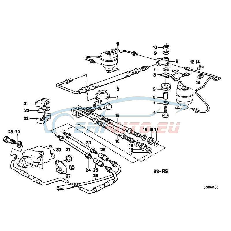 Оригинал BMW подводящий трубопровод (37121136595)