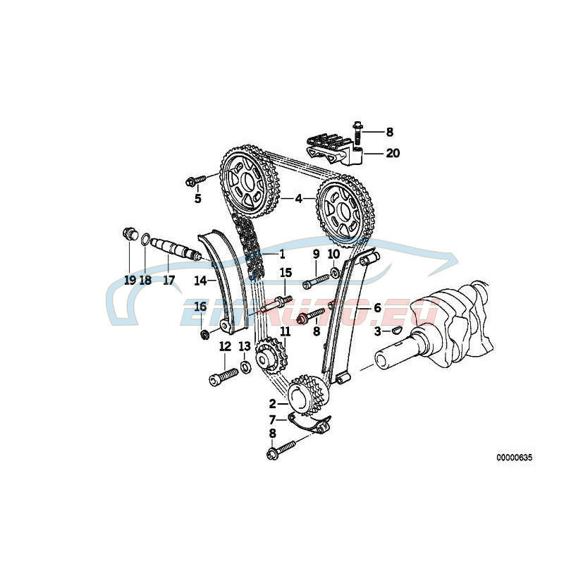 Genuine BMW Timing chain (11311247160)