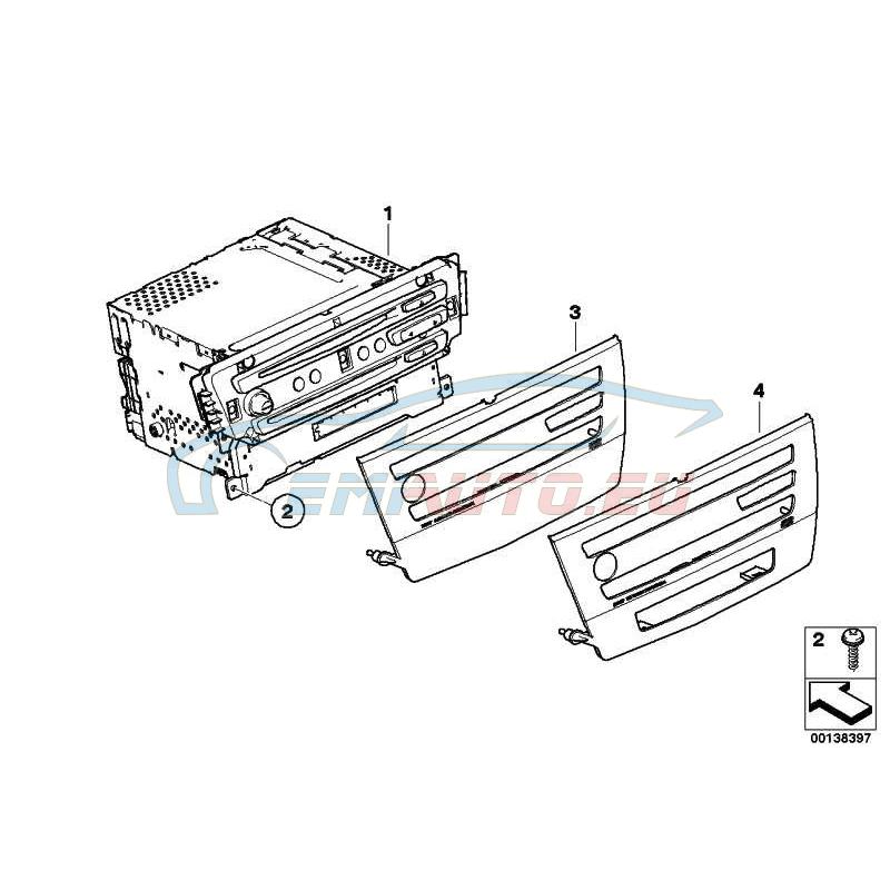 Genuine BMW EXCHANGE-CCC CD (65839123091)