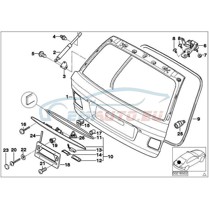 Оригинал BMW багажная дверь (41628158552)
