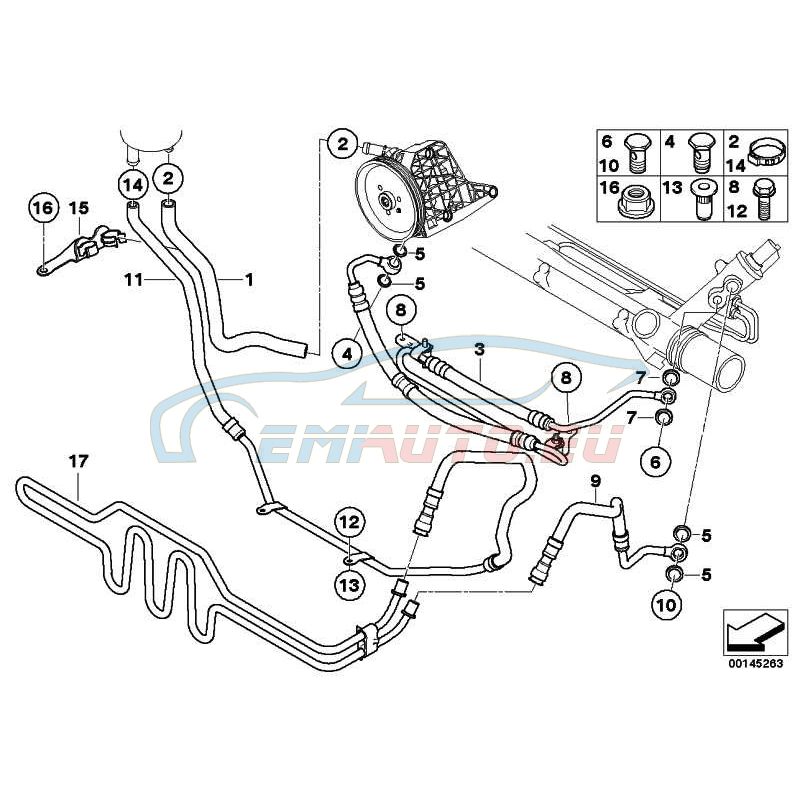 Genuine BMW Expansion hose (32416779314)