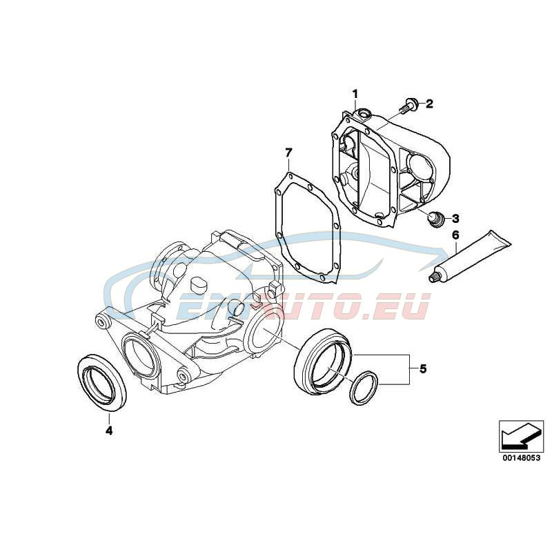 Оригинал BMW Уплотнительная прокладка безасбестовая (33127520872)
