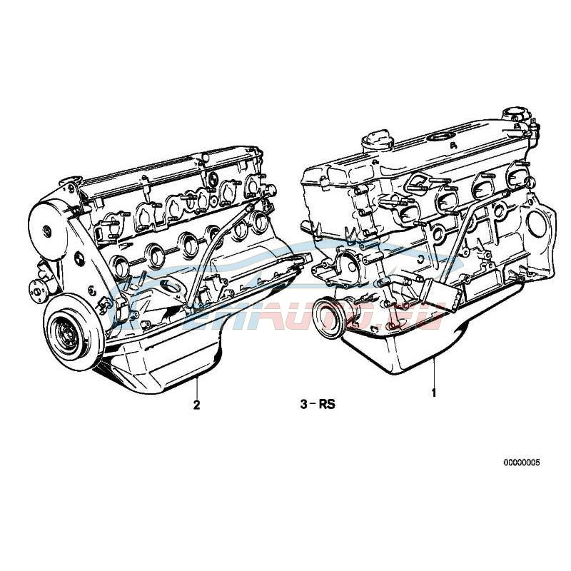 Оригинал BMW Оборотный силовой агрегат (11001735059)