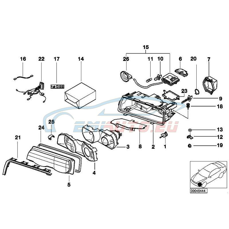 Original BMW Scheinwerfereinsatz links Xenon-Licht (63128381331)