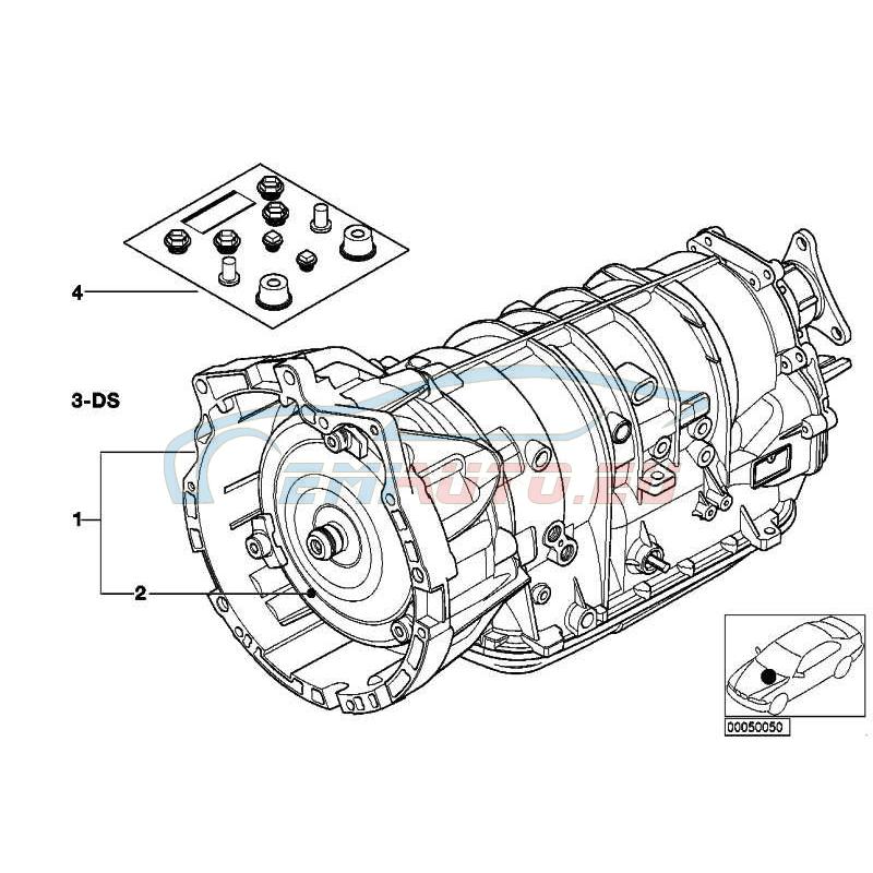 Оригинал BMW Оборотная АКПП с электрогидр. приводом (24001423882)