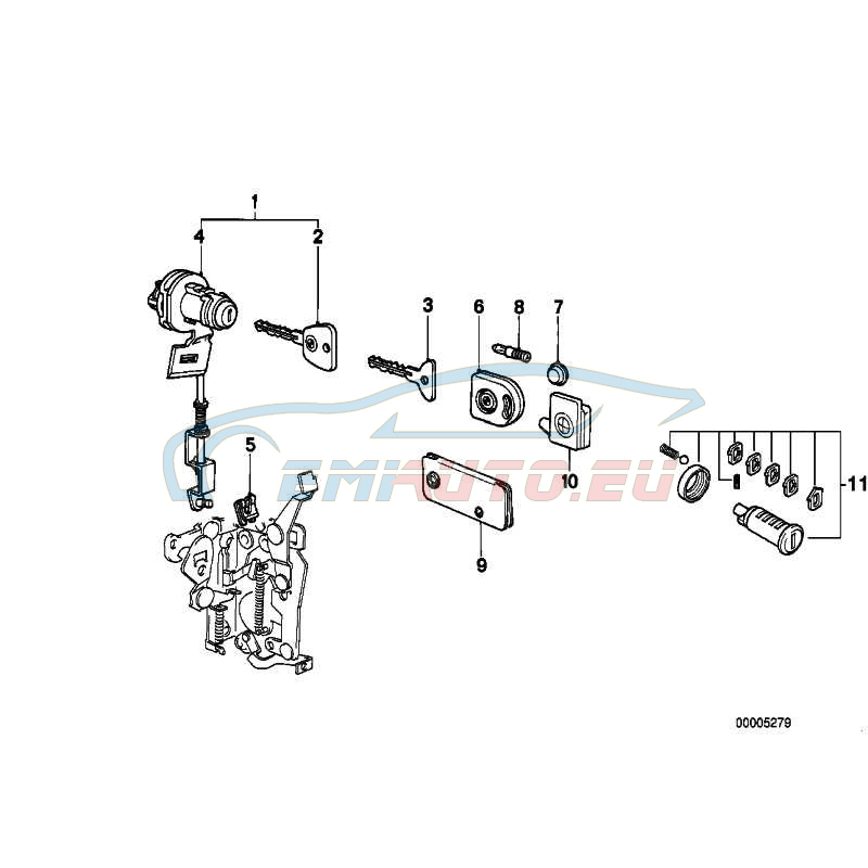 Original BMW Generalschlüssel beleuchtet (Code) (51211900876)