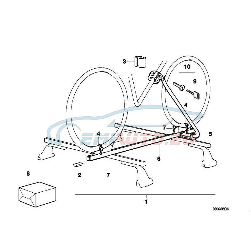 Оригинал BMW Резиновые вкладыши тонкие (82129401403)