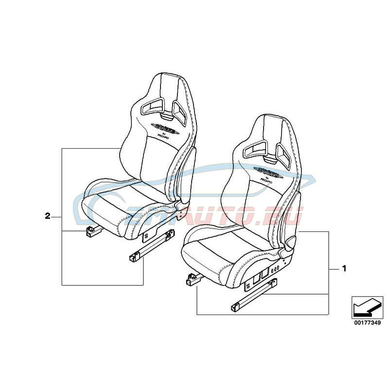 Оригинал Mini Спортивное сиденье JCW Alcantara Л Пд (52100420669)