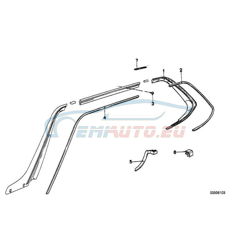 Оригинал BMW Декоративная планка водосточн. желобка П (51131839948)