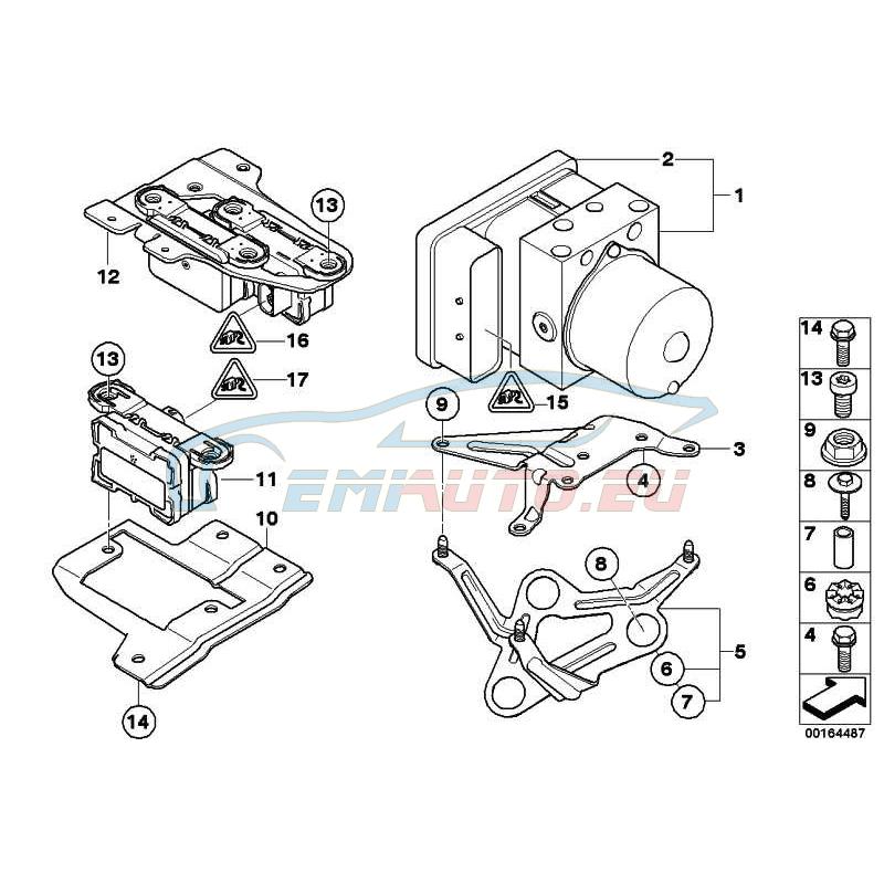 Оригинал BMW Ремонтный комплект ЭБУ DSC (34526774072)