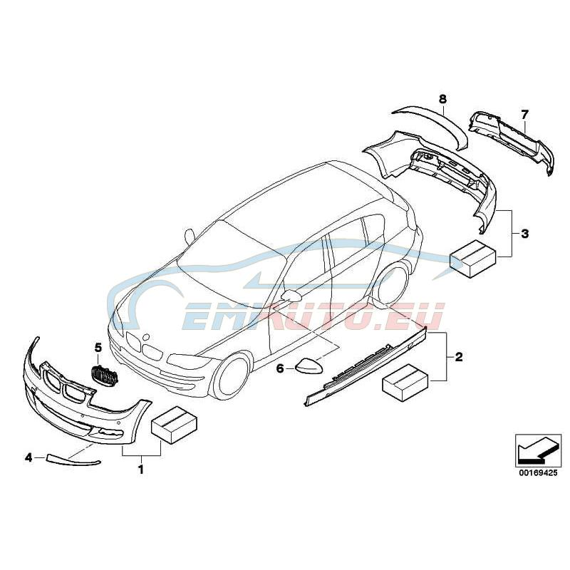 Оригинал Аэрод.к-т порога BMW Performance окраш. (51770445641)