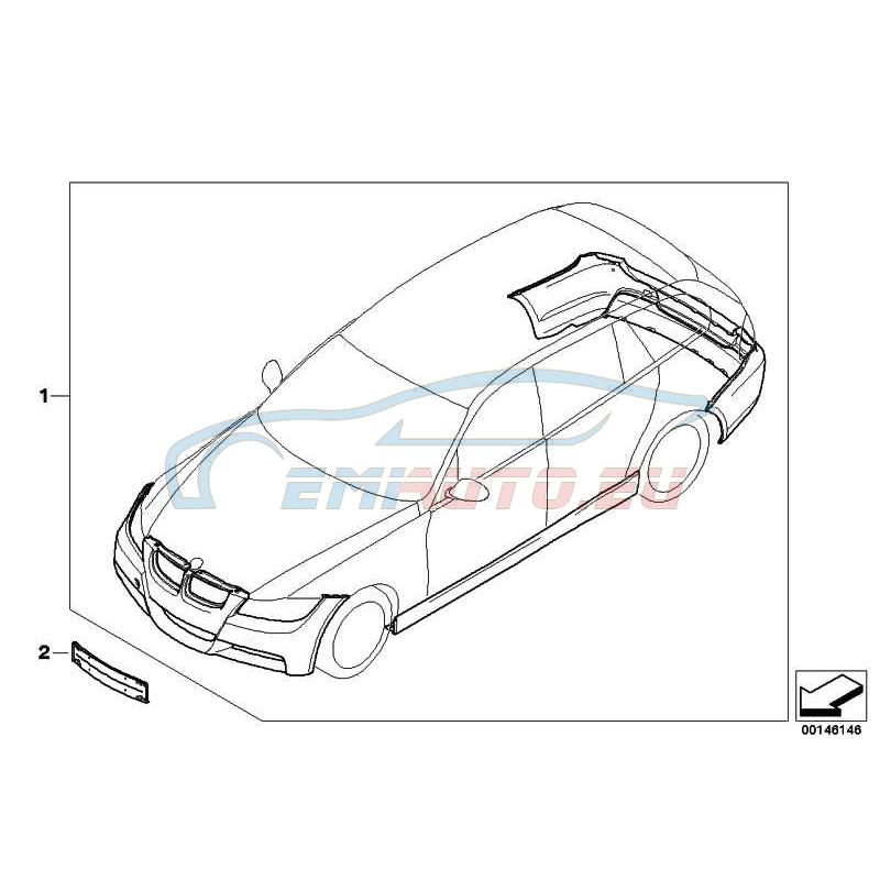 Оригинал BMW К-т доосн.аэродинам.к-том в M-ст.окраш. (51952147203)