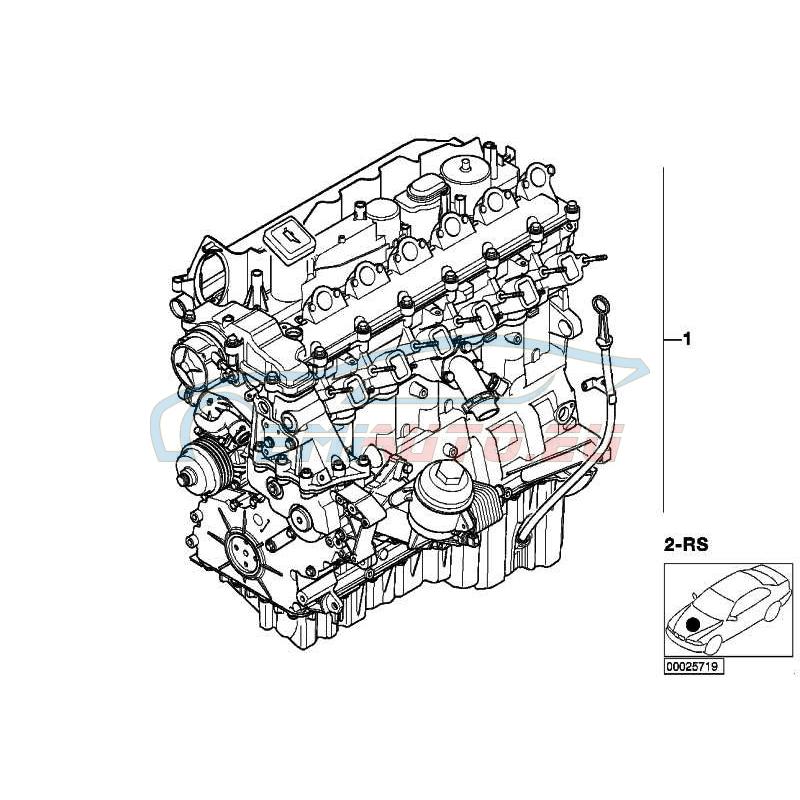 Оригинал BMW Оборотный силовой агрегат (11000441300)