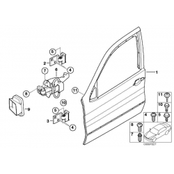 Оригинал BMW Дверь П Пд (41518256824)