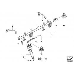 Оригинал BMW Магистраль высокого давления Rail (13537535897)