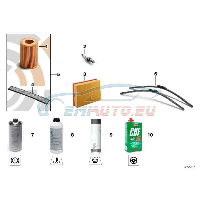 Оригинал BMW Микрофильтр/фильтр с активирован.углем (64316962553)