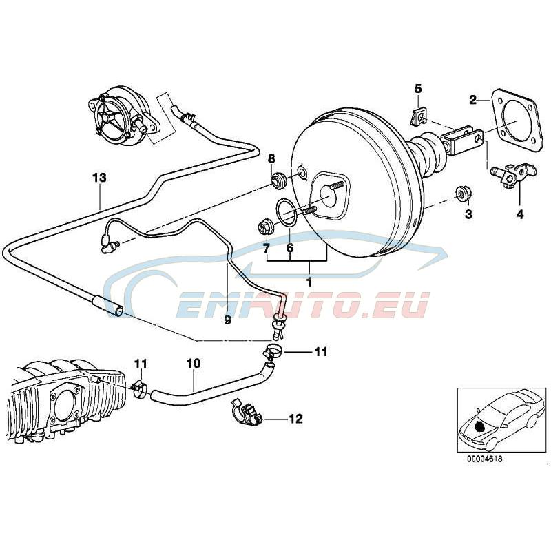 Оригинал BMW Усилитель тормозов (34331163404)