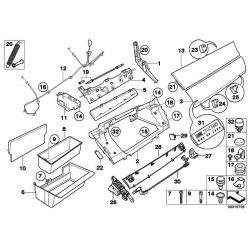 Оригинал BMW Крышка перчаточного ящика кожа Вх (51169211036)