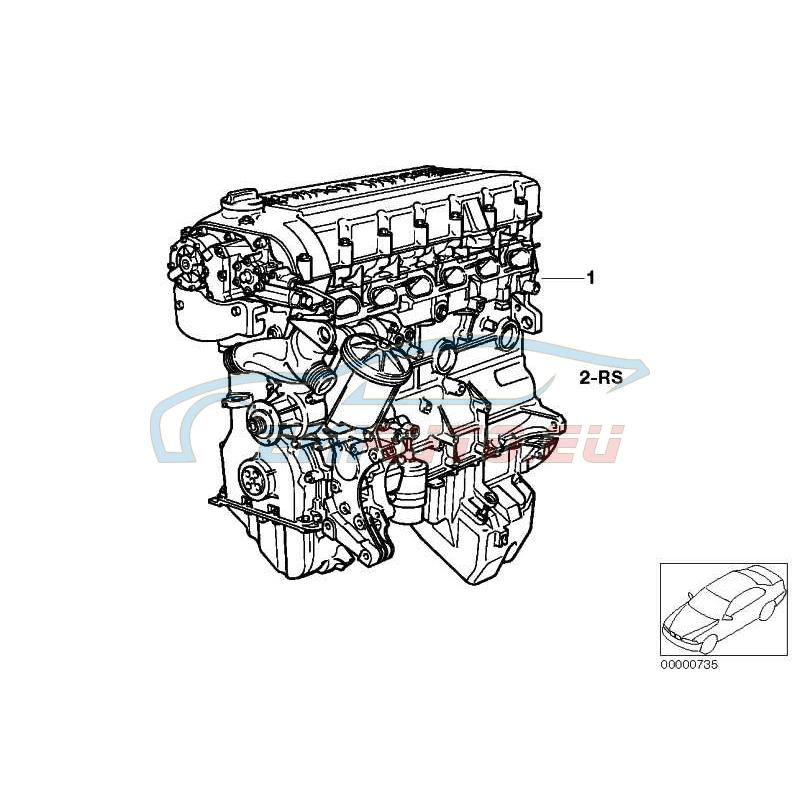 Оригинал BMW Оборотный силовой агрегат (11001405257)
