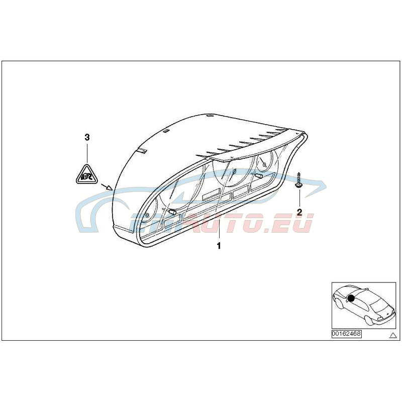 Оригинал BMW Комбинация приборов незакодированная (62116985645)
