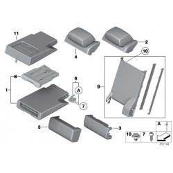 Оригинал BMW Средний подлокотник ткань (52202992370)