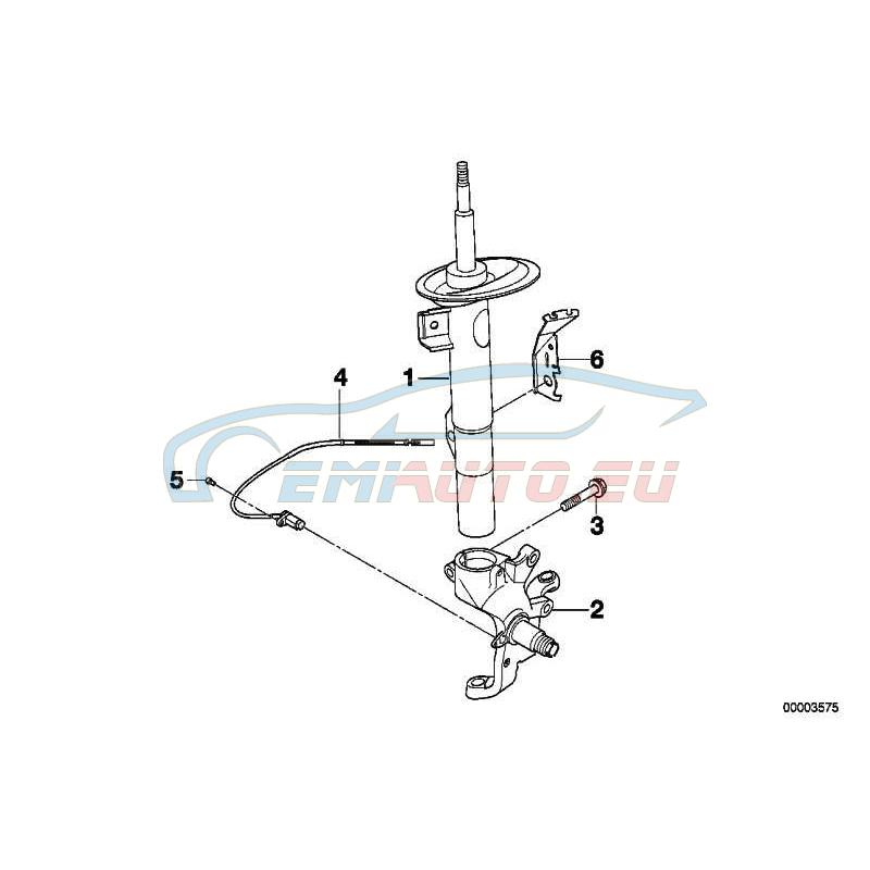 Оригинал BMW Амортизационная стойка П Пд (31311091570)