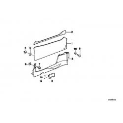 Оригинал BMW Обшивка двери П (51412291306)