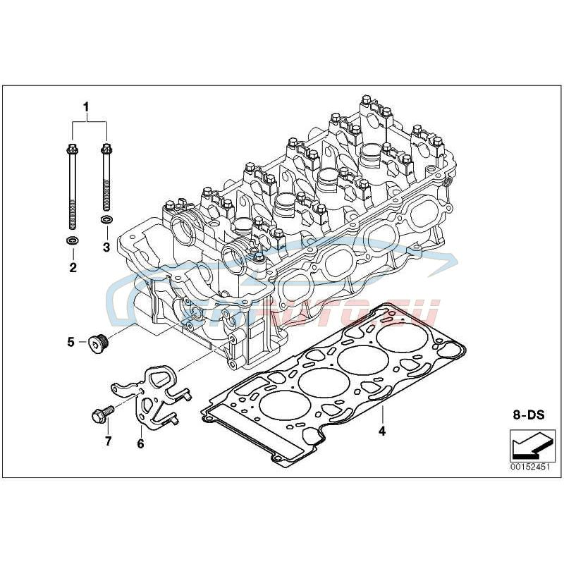 Оригинал BMW Упл.комплект головки блока цил.безасбест (11127557935)